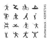 olimpics games design  | Shutterstock .eps vector #420937141