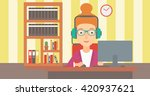 woman playing video game. | Shutterstock .eps vector #420937621