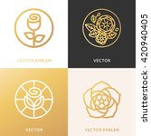 vector logo design template and ... | Shutterstock .eps vector #420940405