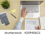 businessman inputing and...   Shutterstock . vector #420940621