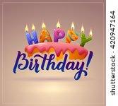 happy birthday background. cake ... | Shutterstock .eps vector #420947164