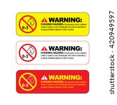 choking hazard warning vector... | Shutterstock .eps vector #420949597