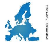 blank blue similar europe map... | Shutterstock .eps vector #420953011