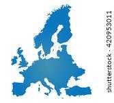 blank blue similar europe map... | Shutterstock .eps vector #420953011
