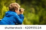 close up of a young boy in a... | Shutterstock . vector #420955114