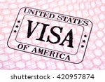 Usa visa immigration stamp...