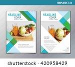 flyer leaflet brochure template ... | Shutterstock .eps vector #420958429