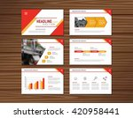 collection of red presentation... | Shutterstock .eps vector #420958441