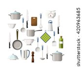 set of cooking utensils | Shutterstock .eps vector #420963685