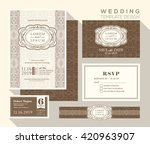vintage design wedding... | Shutterstock .eps vector #420963907