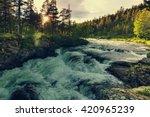 river in norway | Shutterstock . vector #420965239