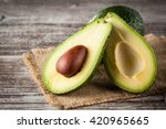 close up of an avocado and... | Shutterstock . vector #420965665