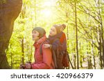 child travels with mom in the... | Shutterstock . vector #420966379
