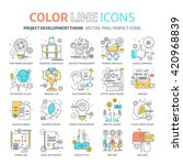 color line  project development ... | Shutterstock .eps vector #420968839