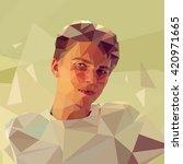 portrait of a man in low... | Shutterstock .eps vector #420971665