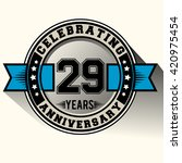 celebrating 29 years... | Shutterstock .eps vector #420975454