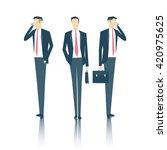 vector set of business people... | Shutterstock .eps vector #420975625