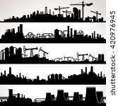 abstract industrial skyline.... | Shutterstock . vector #420976945