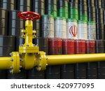 oil pipe line valve in front of ...   Shutterstock . vector #420977095
