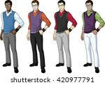 young man student in casual... | Shutterstock .eps vector #420977791