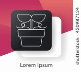 plant line icon | Shutterstock .eps vector #420987124