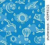 summer sky simless background.... | Shutterstock .eps vector #420993121
