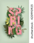 spring card with different... | Shutterstock .eps vector #420993925