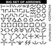 big set of arrows. black... | Shutterstock .eps vector #420996244