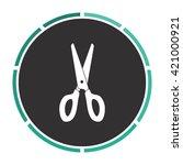 scissors simple flat white...