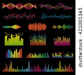 Sound Waves Colorful Light...
