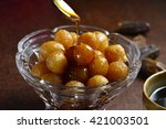 sweet and natural date syrup is ... | Shutterstock . vector #421003501