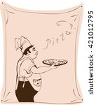 vector illustration of a master ...   Shutterstock .eps vector #421012795