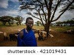 masai mara   october 02   young ... | Shutterstock . vector #421019431