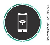 wifi smartphone simple flat...