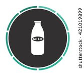 milk bottle simple flat white...