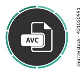 avc simple flat white vector...