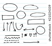 infographics elements sketching ... | Shutterstock .eps vector #421024339