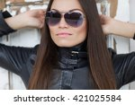 young stylish woman | Shutterstock . vector #421025584