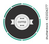 coffee label simple flat white...
