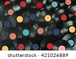 Colored Vinyl Record Close Up