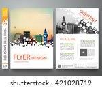 flyers design template vector.... | Shutterstock .eps vector #421028719
