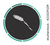 wheat simple flat white vector...
