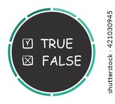 true and false simple flat...