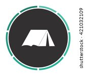 tent simple flat white vector...
