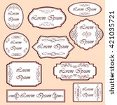 set of vintage labels with... | Shutterstock .eps vector #421035721