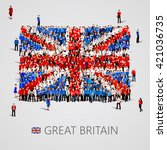 large group of people in the... | Shutterstock .eps vector #421036735