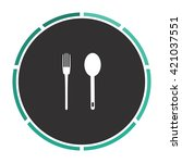 spoon and fork simple flat...