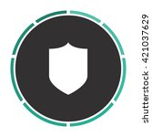 shield simple flat white vector ...