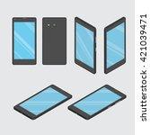 mobile phone. smart phone. set... | Shutterstock .eps vector #421039471