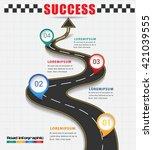 arrow road navigate to success...   Shutterstock .eps vector #421039555